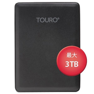 HGST ポータブルHDD3TB 0S03961 Touro Mobile