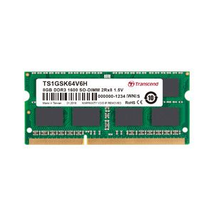トランセンド Transcend 【SO DIMM ノートPC用】【DDR3-1600 PC3-12800】【8GB】TS1GSK64V6H