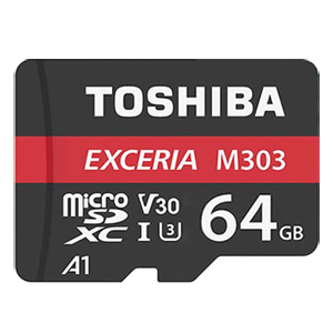 東芝【海外パッケージ】 【microSDXC 64GB】THN-M303R0640A2【UHS-I】Read Speed98MB/s Write Speed65MB/s アダプタ付