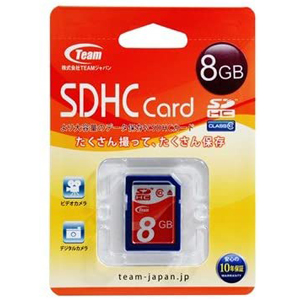 Team Japan 【SDHC 8GB】TG008G0SD28X【Class10】