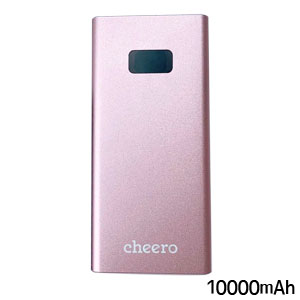 チーロ cheero cheero Power Plus 5 10000mAh with Power Delivery 18W CHE-101-RG