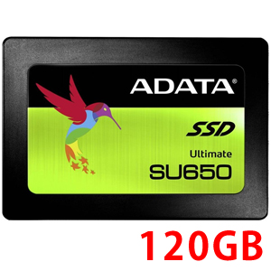 エイデータ ADATA SSD 120GB ASU650SS-120GT-C [120GB SSD Ultimate SU650 2.5インチ SATA 6G 7mm 3D TLC]
