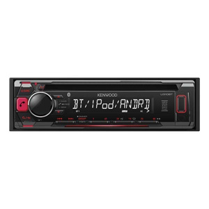 ケンウッド(KENWOOD) CD/USB/iPod/Bluetoothレシーバー MP3/WMA/AAC/WAV/FLAC対応 U310BT
