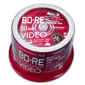 ハイディスク HI DISC VVVBRE25JP50SP BD-RE BDRE 25GB 2倍速50枚